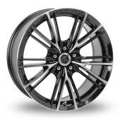 AC Wheels FF Black Polished Alloy Wheels
