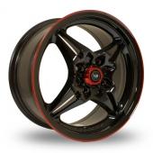 Rota Auto X Black Red Pinstripe Alloy Wheels