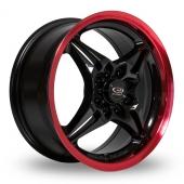 Rota Auto X Black Red Alloy Wheels