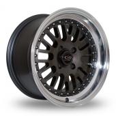 Rota Flush Gun Metal Polished Lip Alloy Wheels