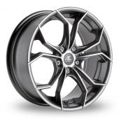 AC Wheels Twist Gun Metal Polished Alloy Wheels