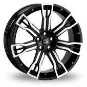 Hawke Saker II Black Polished Alloy Wheels