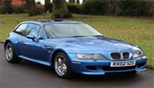 BMW Z3M Coupe 1998 to 2003 Alloy Wheels and Tyre Packages.