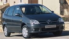 Nissan Almera Tino Alloy Wheels and Tyre Packages.