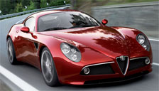 Alfa Romeo 8C 2007 to 2010 Alloy Wheels and Tyre Packages.