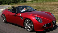 Alfa Romeo 8C Spyder 2008 to 2010 Alloy Wheels and Tyre Packages.