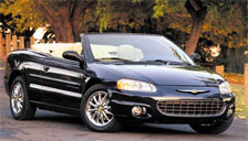 Chrysler Sebring Convertible 2001 to 2006 (2nd Generation) Alloy Wheels and Tyre Packages.
