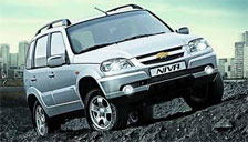 Chevrolet Niva 1998 to 2018 Alloy Wheels and Tyre Packages.