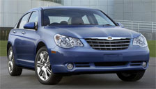 Chrysler Sebring Sedan 2007 to 2010 (3rd Generation) Alloy Wheels and Tyre Packages.
