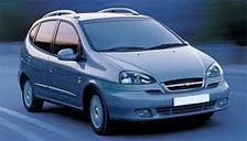Chevrolet Vivant 2006 to 2011 Alloy Wheels and Tyre Packages.