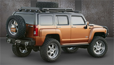 Hummer H3 Alloy Wheels and Tyre Packages.