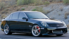 Infiniti G35 Alloy Wheels and Tyre Packages.