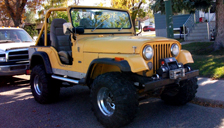 Jeep CJ5 Alloy Wheels and Tyre Packages.