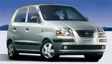 Hyundai Santro Alloy Wheels and Tyre Packages.