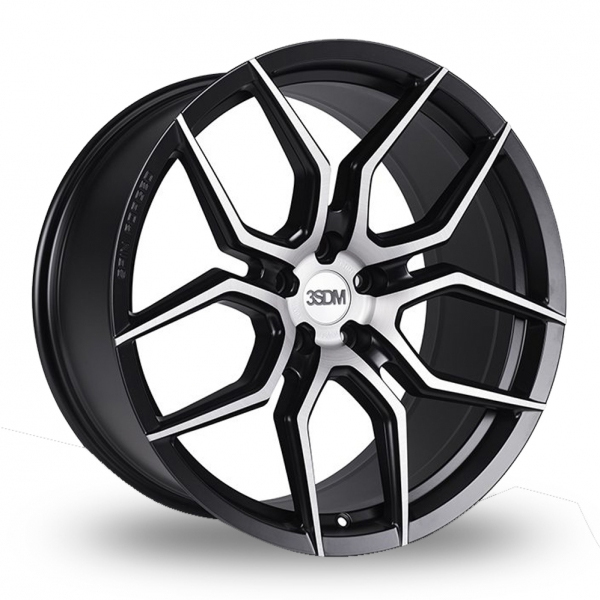 3SDM 0.50 Wider Rear Black Polished