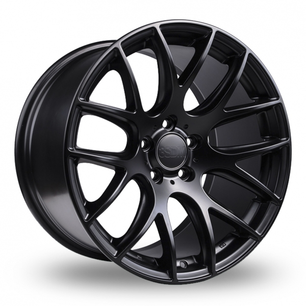 18 Inch 3SDM 0.01 Satin Black Alloy Wheels