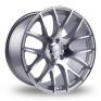 18 Inch 3SDM 0.01 Silver Polished Alloy Wheels