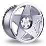 18 Inch 3SDM 0.05 Silver Polished Alloy Wheels