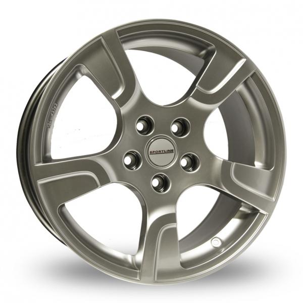 """18"""" VW Sportline 2 Silver (Genuine) Alloy Wheels"""