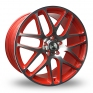 18 Inch BK Racing 170 Red Alloy Wheels