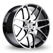BK Racing 170 Black Polished Alloy Wheels