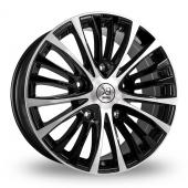 BK Racing 191 Black Polished Alloy Wheels