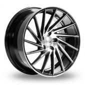 1AV ZX1 Black Polished Alloy Wheels