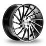 19 Inch 1AV ZX1 Black Polished Alloy Wheels