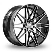 1AV ZX4 Black Polished Alloy Wheels