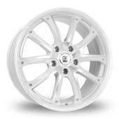 BK Racing 201 White Polished Alloy Wheels