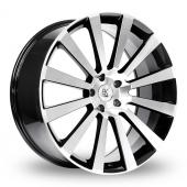 BK Racing 660 Black Polished Alloy Wheels