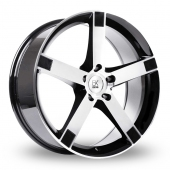 BK Racing 677 Black Polished Alloy Wheels