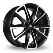 Fondmetal 7600 Black Polished Alloy Wheels