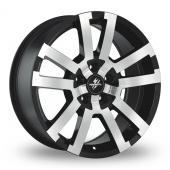 Fondmetal 7700-1 Black Polished Alloy Wheels