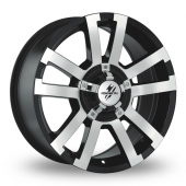 Fondmetal 7700 Off Road Black Polished Alloy Wheels