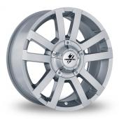 Fondmetal 7700 Off Road Silver Alloy Wheels