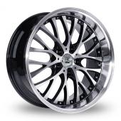 BK Racing 861 WP Black Polished Alloy Wheels