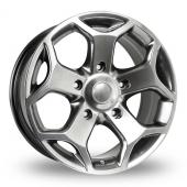BK Racing 954 Hyper Black Alloy Wheels