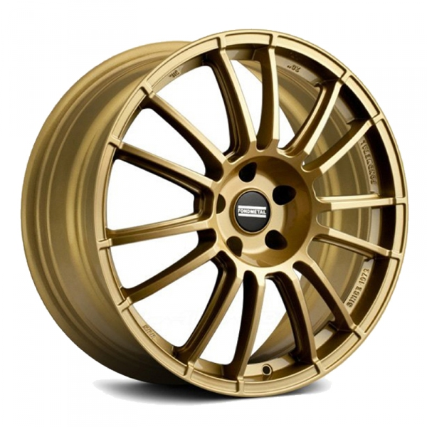 "17"" Fondmetal 9RR Glossy Gold Alloy Wheels"