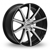 AEZ Straight Black Polished Alloy Wheels