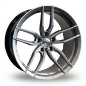 AVA Chicago Hyper Silver Alloy Wheels