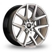 AVA Rockford Hyper Silver Alloy Wheels
