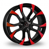 Wolfrace Assassin Black Red Alloy Wheels