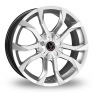 16 Inch Wolfrace Assassin Silver Alloy Wheels