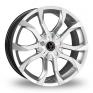18 Inch Wolfrace Assassin Silver Alloy Wheels