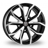 Wolfrace Assassin TRS Black Polished Alloy Wheels