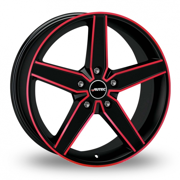 "Picture of 17"" Autec Delano Matt Black/Red"