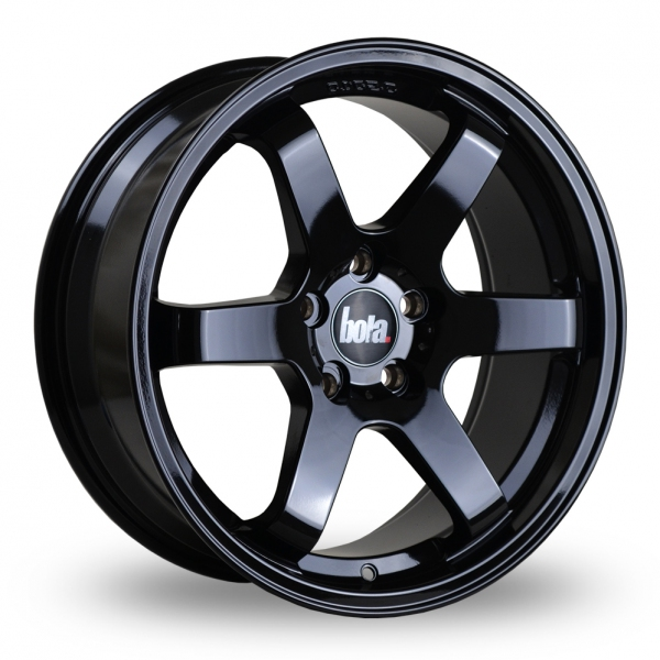 "17"" Bola B1 Gloss Black Alloy Wheels"