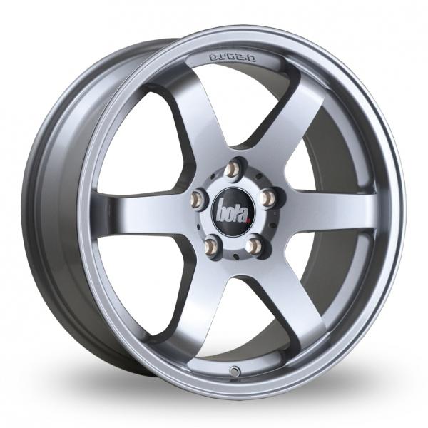 """18"""" Bola B1 Silver Alloy Wheels"""