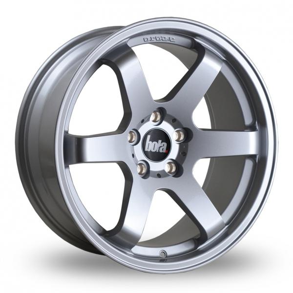 """18"""" Bola B1 Silver Wider Rear Alloy Wheels"""
